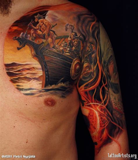 colored tattoos 72 zodiac viking tattoos on