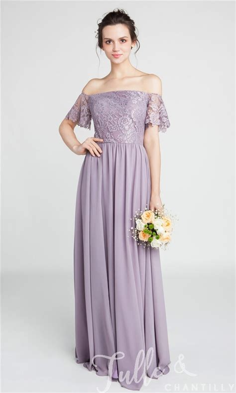 Bridesmaid Dress Patterns With Lace - gorgeous lace the shoulder bridesmaid gown with