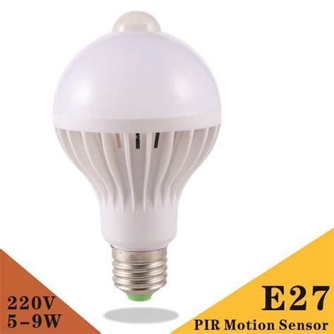 Lu Led Smart E27 9w With Pir Sensor pir motion sensor l 5w 7w 9w led bulb e27 220v auto smart led pir infrared l with the