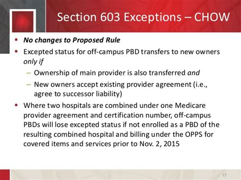 section 603 certificate a practical assessment of cms s changes to provider based