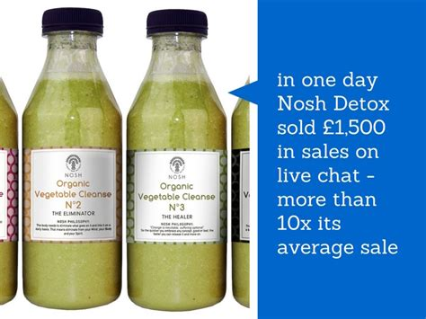 Nosh Detox by How Nosh Detox Is Using Live Chat For Sales