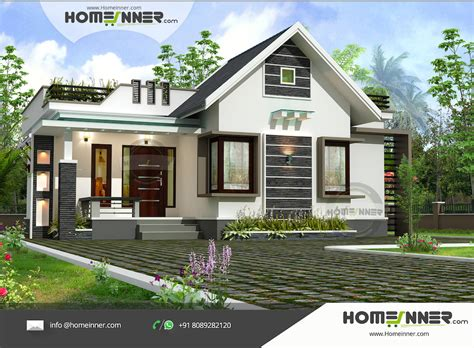 2 bhk home design modern contemporary 1030 sqft 2 bhk small kerala home design