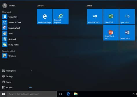 export start layout xml windows 10 customizing the windows 10 start menu and add ie shortcut
