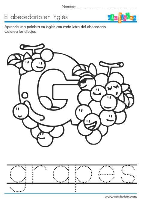 imagenes en ingles con la letra g el abecedario en ingl 233 s fichas educativas infantiles gratis