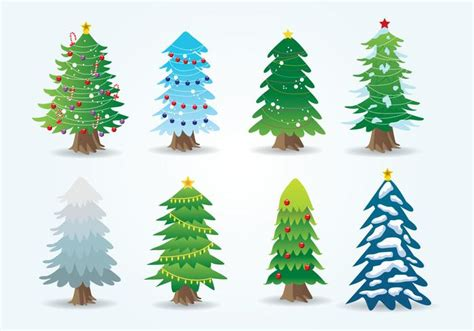 cartoon christmas tree   vectors clipart graphics vector art