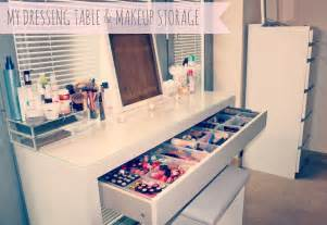 Ikea Vanity Makeup Storage My Makeup Storage Ikea Malm Dressing Table