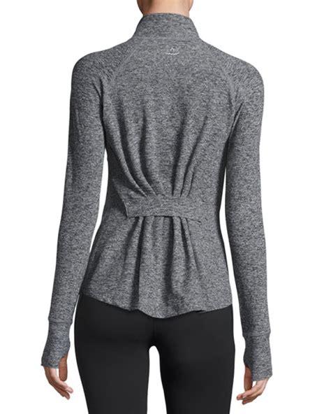 sleep jacket beyond yoga eat sleep re pleat space dye athletic jacket