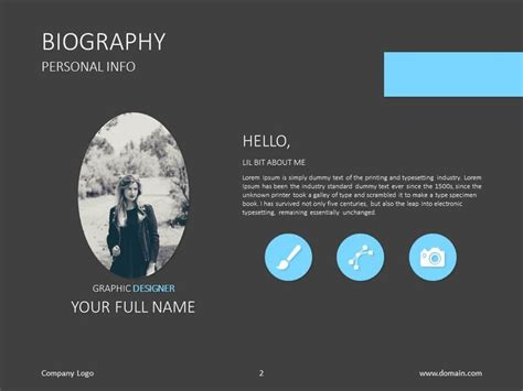 17 Best Images About Google Style Slides On Pinterest Powerpoint Biography Template