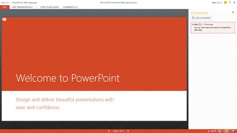 A Closer Look At The Upcoming Office Web Apps Preview Now Powerpoint App