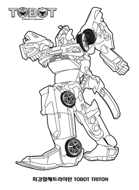 Tobot Y Coloring Pages by 또봇 색칠공부 프린트 도안 준비했어요