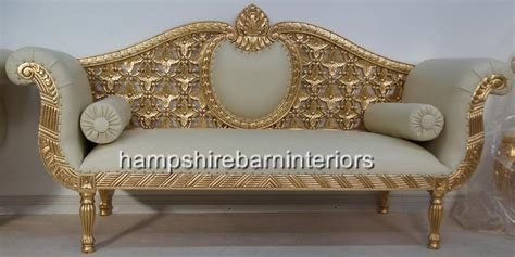 ornate couch a a royal wedding set sofa plus two chairs in gold leaf