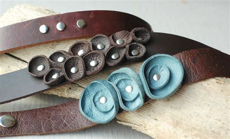 Leather Handmade Bracelets - handmade leather bracelets vicki jean bags