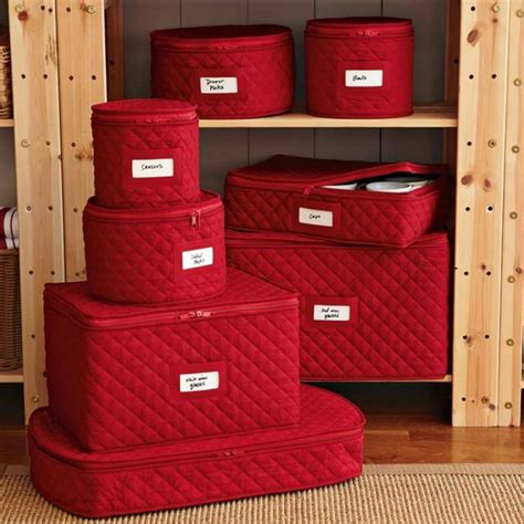 Quilted Plate Storage by Quilted China Storage Cases Traditional Dinnerware And