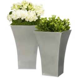 flared titanium planters from lewis outdoor pots