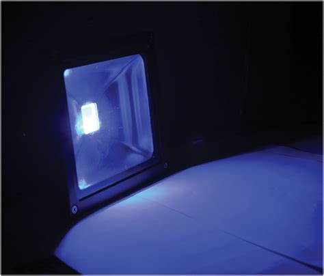 blue led flood light l330b blue 20watt led outdoor colour wash flood light