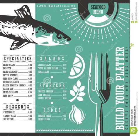restaurant menu vintage design for background stock photo image