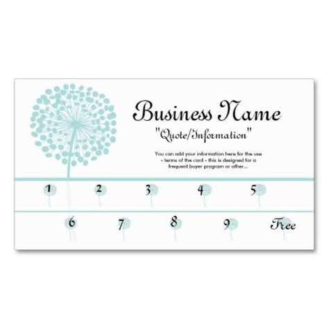 make your own loyalty cards blue dandelion loyalty cards frequent buyer business card