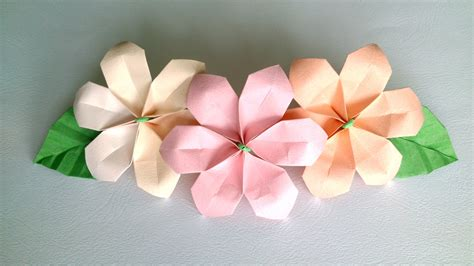Origami Hibiscus Flower - origami flower 陝ute and easy paper flowers for