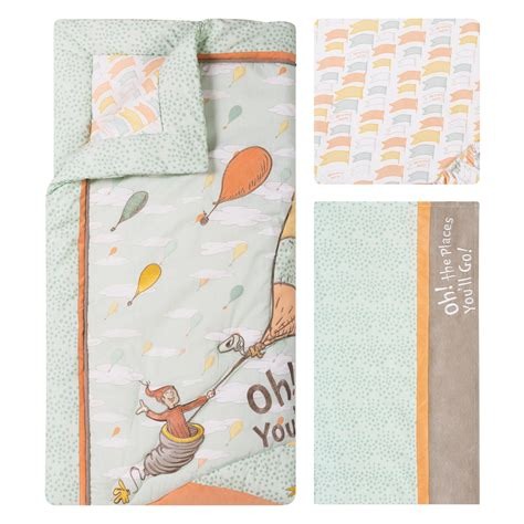 Oh The Places You Ll Go Crib Bedding Trend Lab Dr Seuss Oh The Places You Ll Go 5 Crib Bedding Set Reviews Wayfair