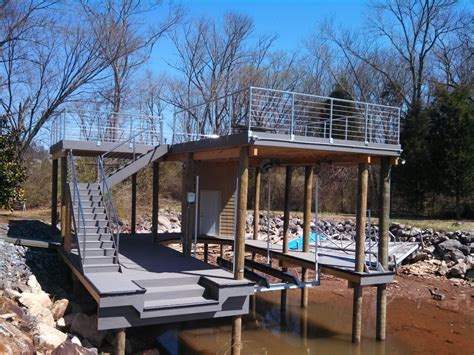 boat lift knoxville tn dock builders and boat lift service shoreline