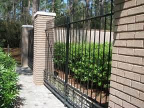 iron fence design with brick wall decor olpos design