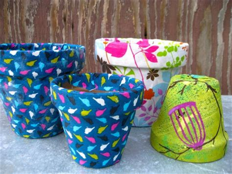 how to decorate pot at home 14 ideas for flower pots decoration with fabric diy and