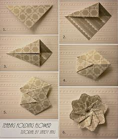 Paper Folding Cards Techniques - 1000 ideas about origami flowers tutorial on