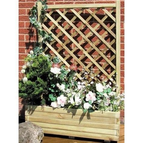 Large Garden Planters With Trellis by Garden Planter Wooden Timber Grange Large Trellis Trough