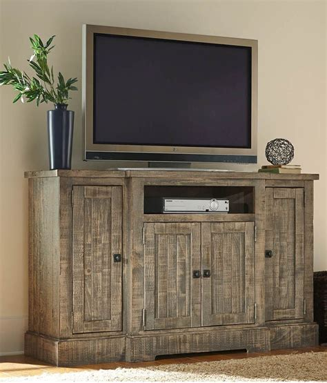 weathered gray console meadow weathered gray 60 quot console from progressive