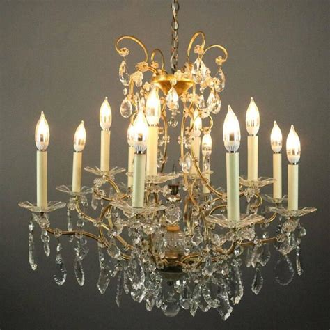 Venetian Style Chandelier Twelve Light Venetian Style Bronze And Cut Chandelier Circa 1940 For Sale At 1stdibs