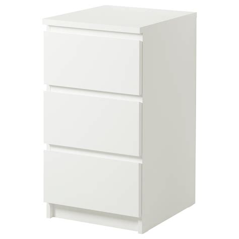 Ikea Arbeitsplatte 90 Tief by Malm Chest Of 3 Drawers White 40x78 Cm Ikea