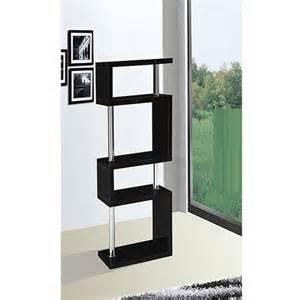 slim shelving unit miami black slim shelving unit in high gloss 16402