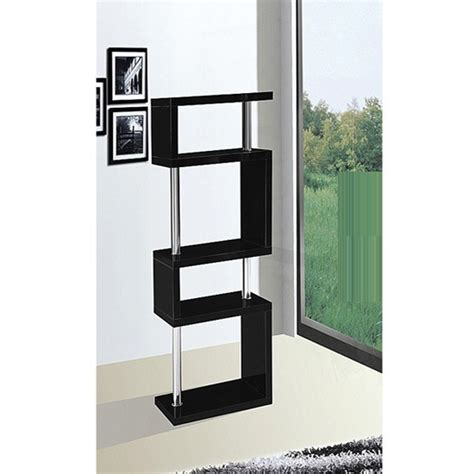 slim shelving unit miami black slim shelving unit in high gloss buy modern