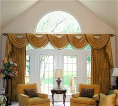 Curtains For Palladian Windows Decor Swag Valances Swags And Jabots Swag And Cascade Valance
