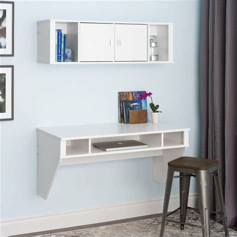 Desk With Hutch And Drawers Bureau Suspendu De Beaux Exemples De Petits Meubles