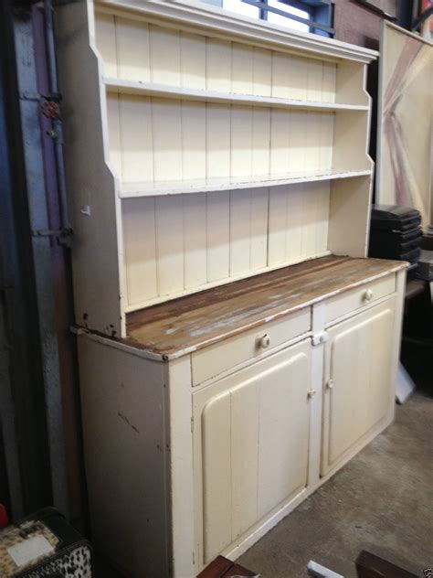 victorian shabby chic rustic country kitchen dresser hutch