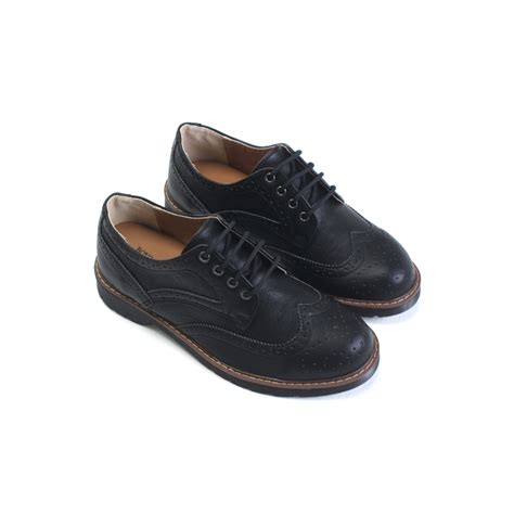 mens wing tip punching contrast stitch wedge heels oxfords