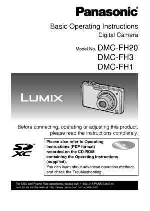 Panasonic Lumix Dmc Fh1 User Manual