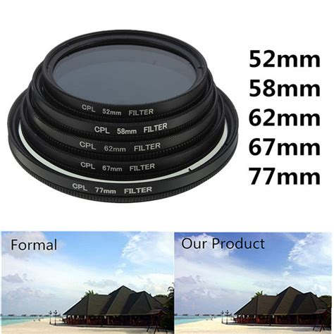 Filter Cpl 52mm Canon Nikon Sony 52mm 77mm phot digital slim cpl circular polarizer