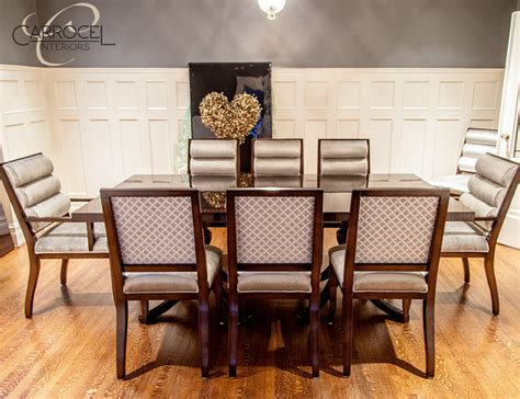 Deco Dining Room by Custom Deco Mahogany Dining Table With Colina Deco Dining Chairs Modern Dining Room