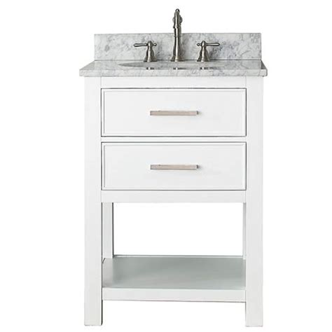 24 inch white bathroom vanity with top brooks white 24 inch vanity combo with carrera white