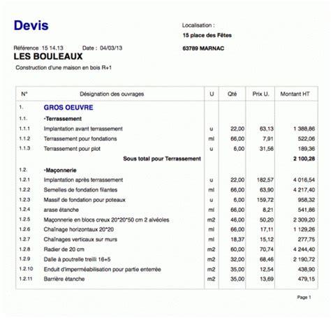 Devis Travaux by Construction R 233 Novation Devis Travaux