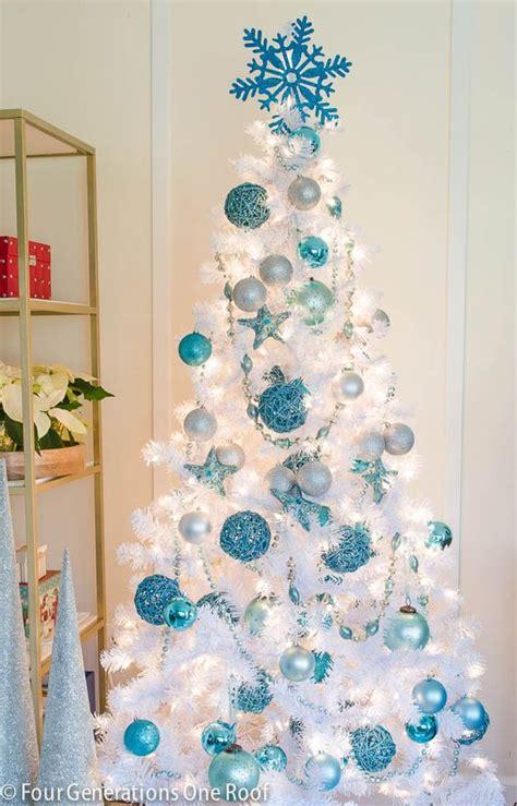 10 white christmas tree mesmerizing blue tree decorations celebration all about