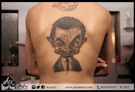 bean tattoo mr bean portrait ace tattooz