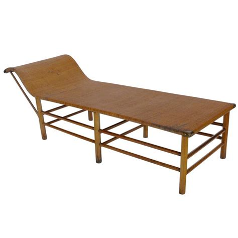 rattan chaise longue wicker chaise longue at 1stdibs