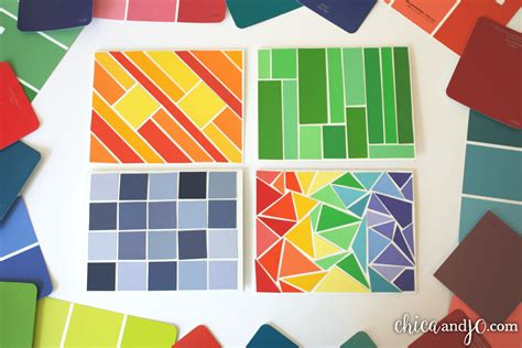 paint chips paint chip greeting cards chica and jo