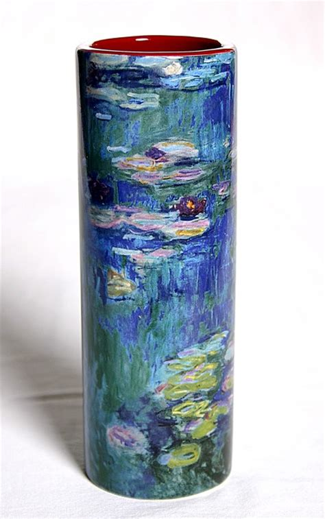monet waterlilies water lilies ceramic vases flower