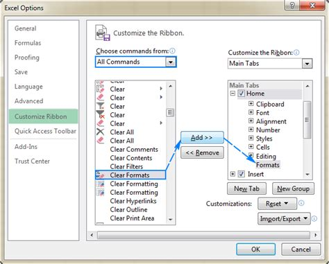 format excel button clear formatting in excel how to remove all or only