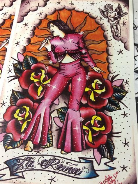 selena quintanilla tattoo selena la reina print 11x17 inches by porvidacs
