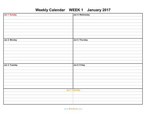 weekly schedule printable 7 days customizable daily times